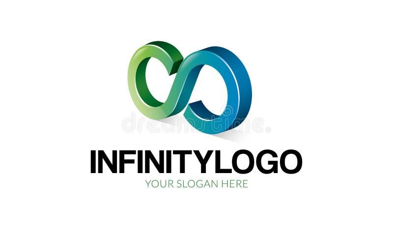 Oneindigheid Logo Template stock illustratie