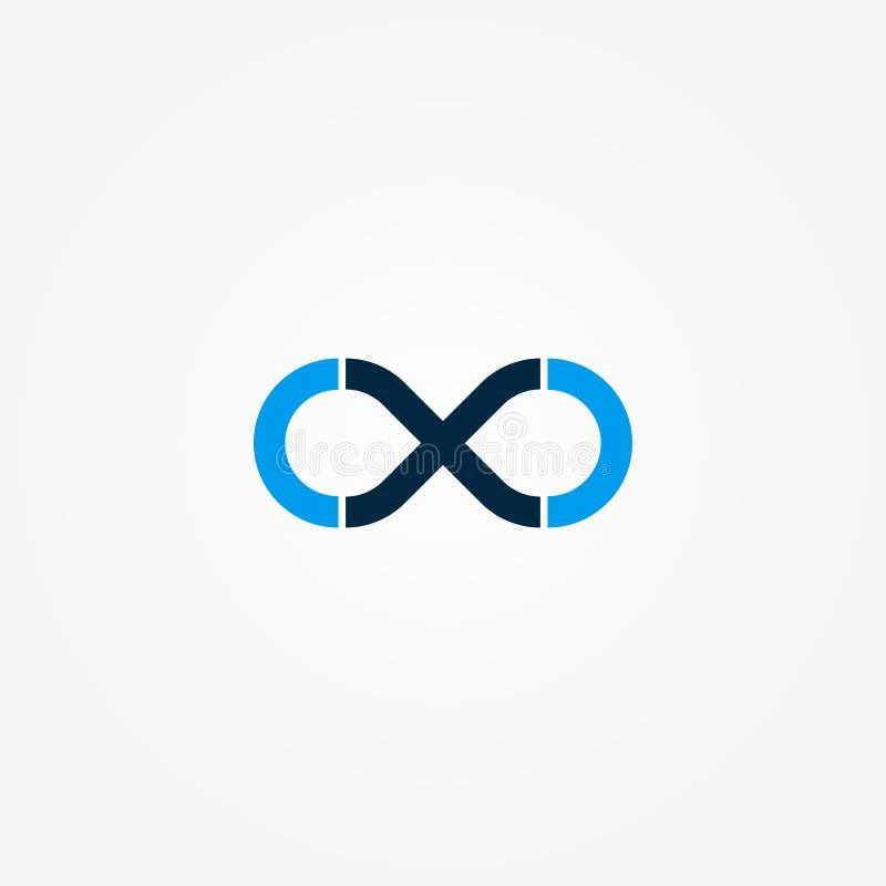 Oneindigheidsembleem Embleemmalplaatje voor uw zaken stock illustratie