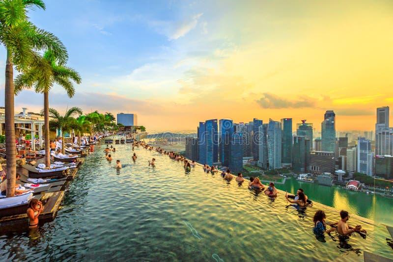 Oneindigheidspool Singapore royalty-vrije stock foto