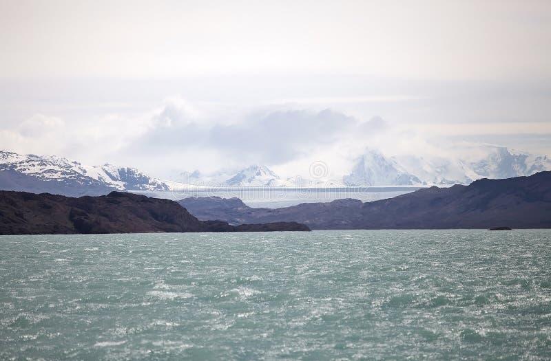 Onelli lodowa widok od Argentino jeziora, Argentyna fotografia royalty free