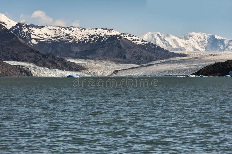 Onelli lodowiec w Patagonia, Argentyna fotografia royalty free
