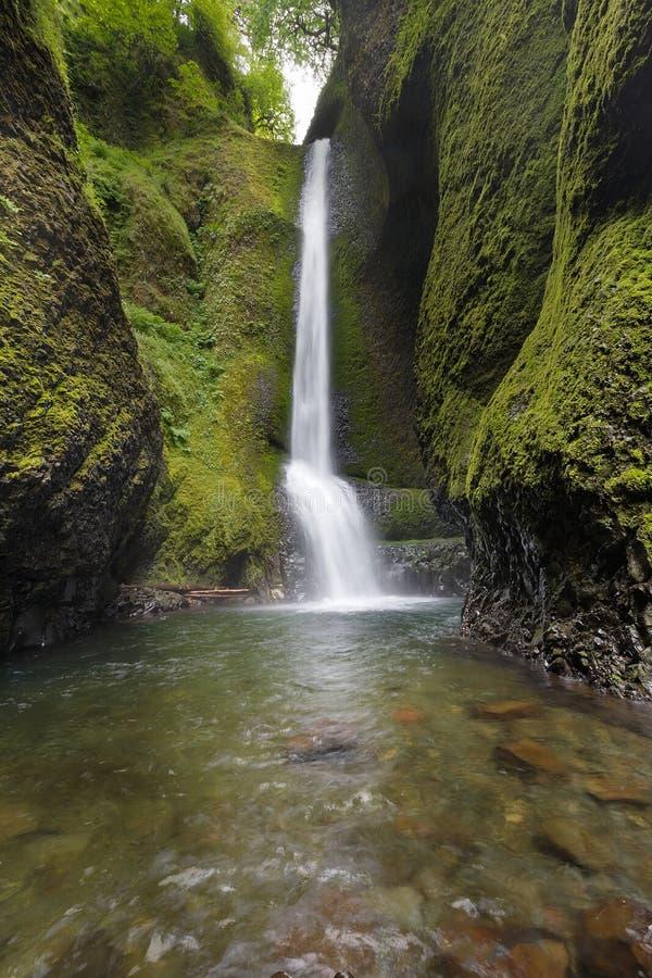 Oneonta più basso cade nell'Oregon immagini stock libere da diritti