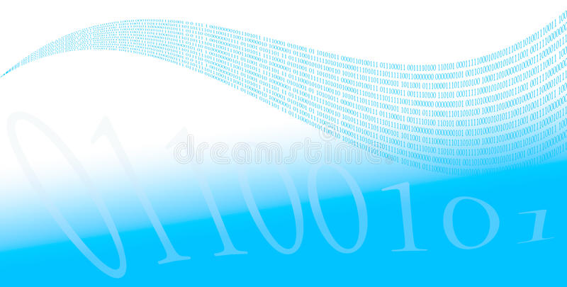 Download Ones and zeros stock illustration. Image of blue, programming - 15384148