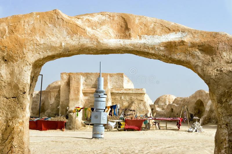 Ong Jemel Star Wars Location in Tunisia royalty free stock image