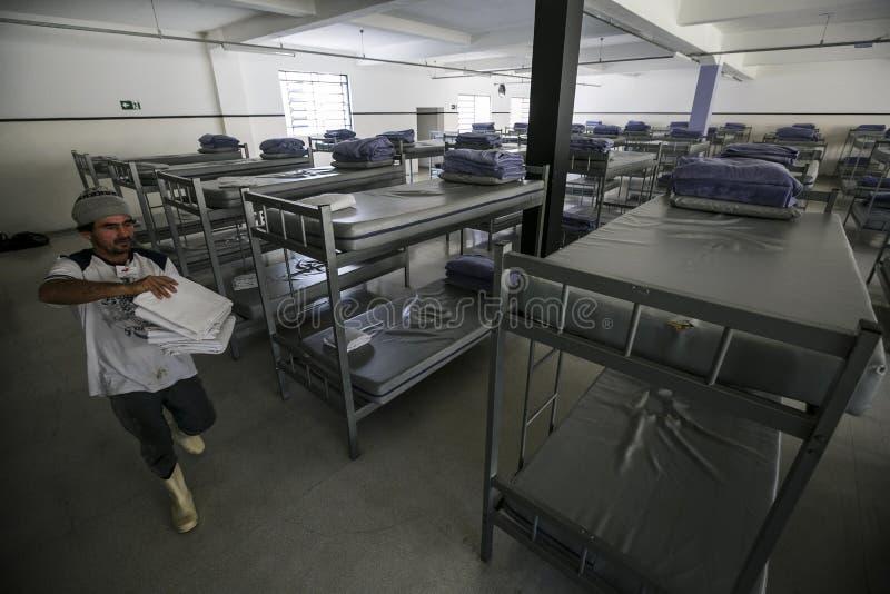 ONG Sermig - dormitorium w ranku Brasil, San - Paolo - obraz royalty free