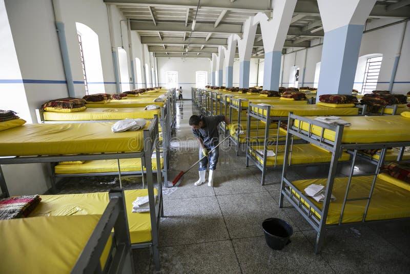 ONG Sermig - dormitorium w ranku Brasil, San - Paolo - fotografia stock