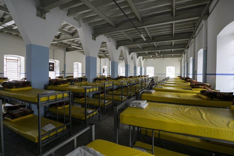 ONG Sermig - dormitorium w ranku Brasil, San - Paolo - zdjęcia stock