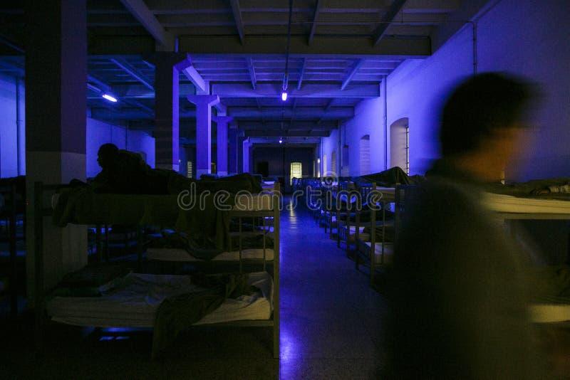 ONG Sermig - dormitorium w wieczór Brasil, San - Paolo - obrazy royalty free