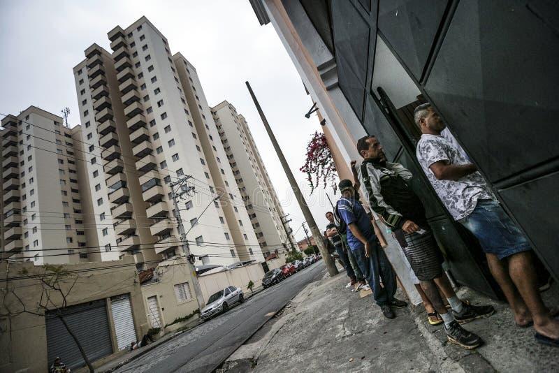 ONG Sermig na zewnątrz dormitorium - Brasil, San - Paolo - zdjęcia royalty free