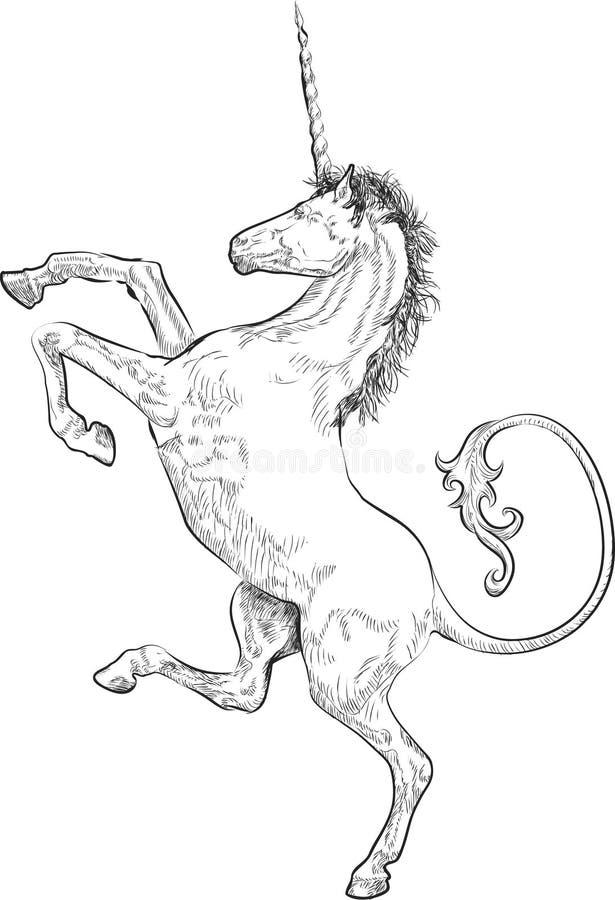 Ongebreidelde Eenhoorn vector illustratie
