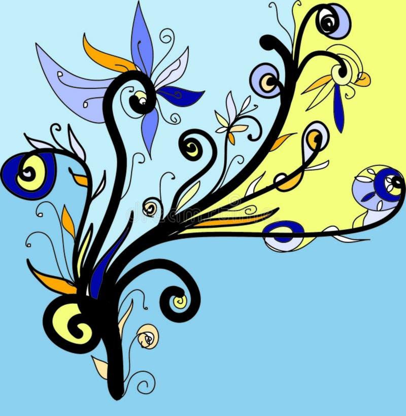 Ongebruikelijk bloemenornament vector illustratie
