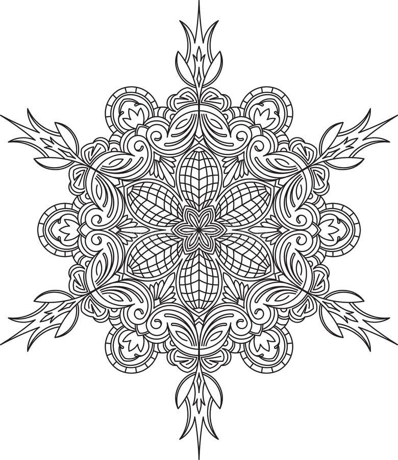Ongebruikelijk, hexagonaal, kantkader, decoratief element met lege pl stock illustratie
