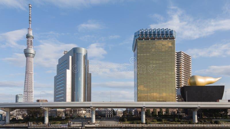 Ongebruikelijke architectuur in Tokyo stock foto