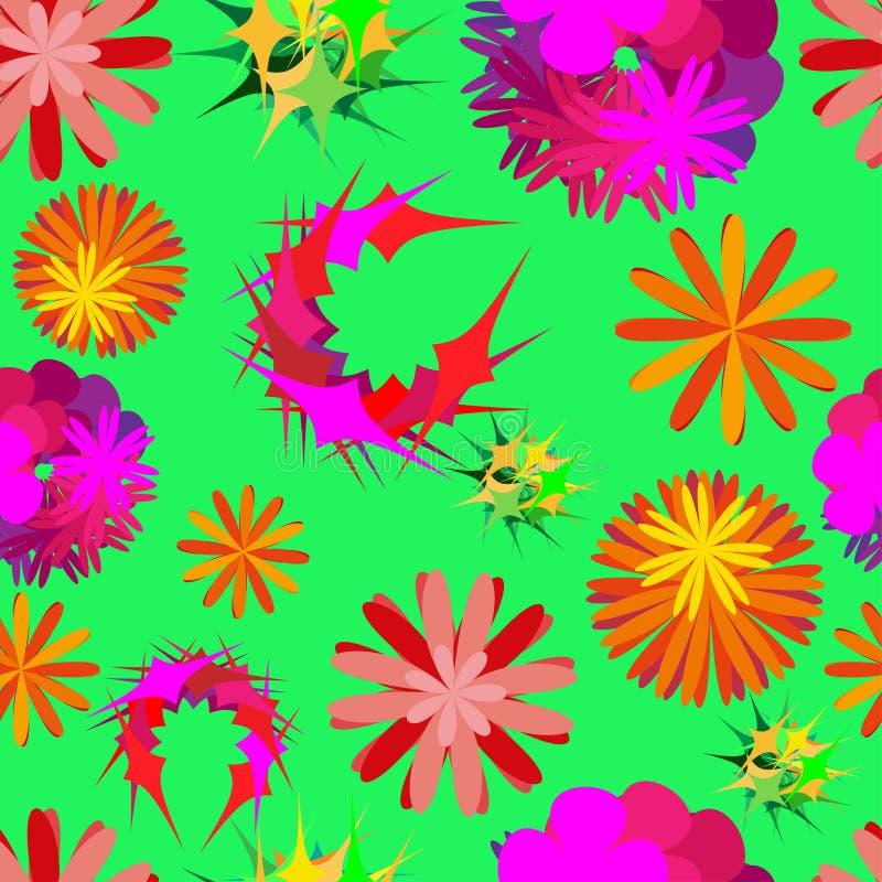 Ongebruikelijke bloemen stock illustratie