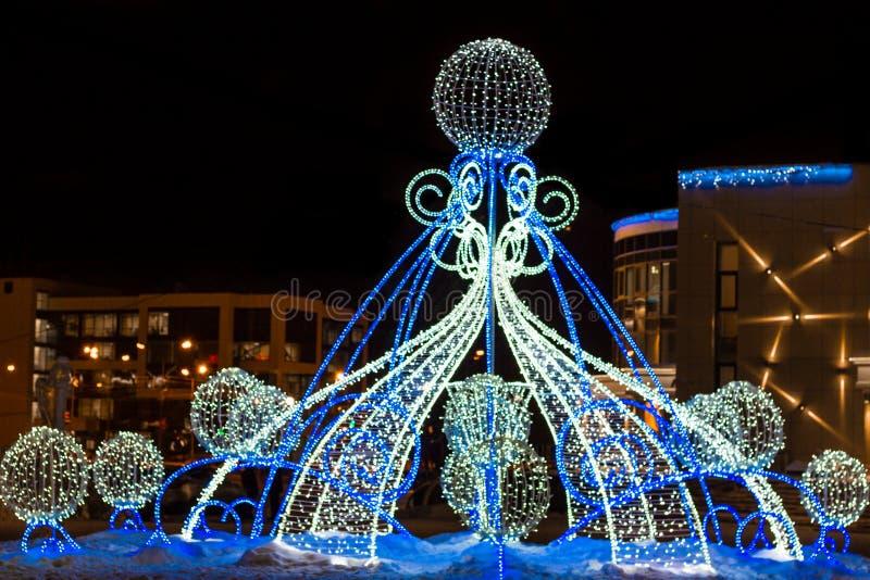 Ongebruikelijke Kerstmisverlichting stock foto