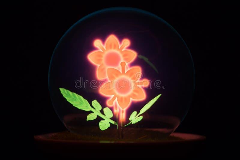 Ongebruikelijke nacht lichte lamp stock afbeelding