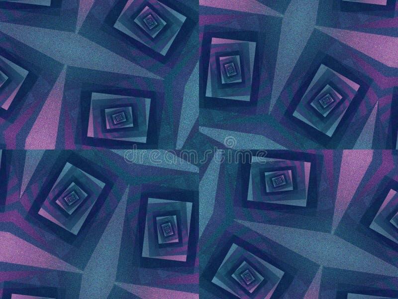 Ongebruikelijke Textuur in Donkere Blauw vector illustratie