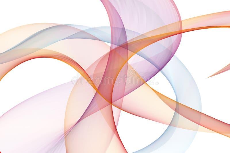 Ongebruikelijke vorm en levendig kleuren abstract cijfer aangaande witte achtergrond stock afbeelding