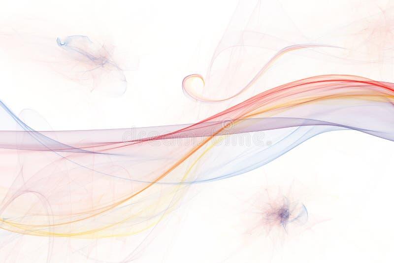 Ongebruikelijke vorm en levendige kleuren abstracte golven stock foto
