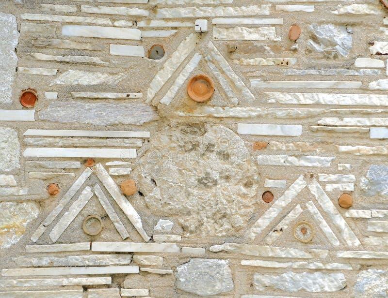 Ongebruikelijke willekeurige de muurclose-up van de vormensteen stock fotografie