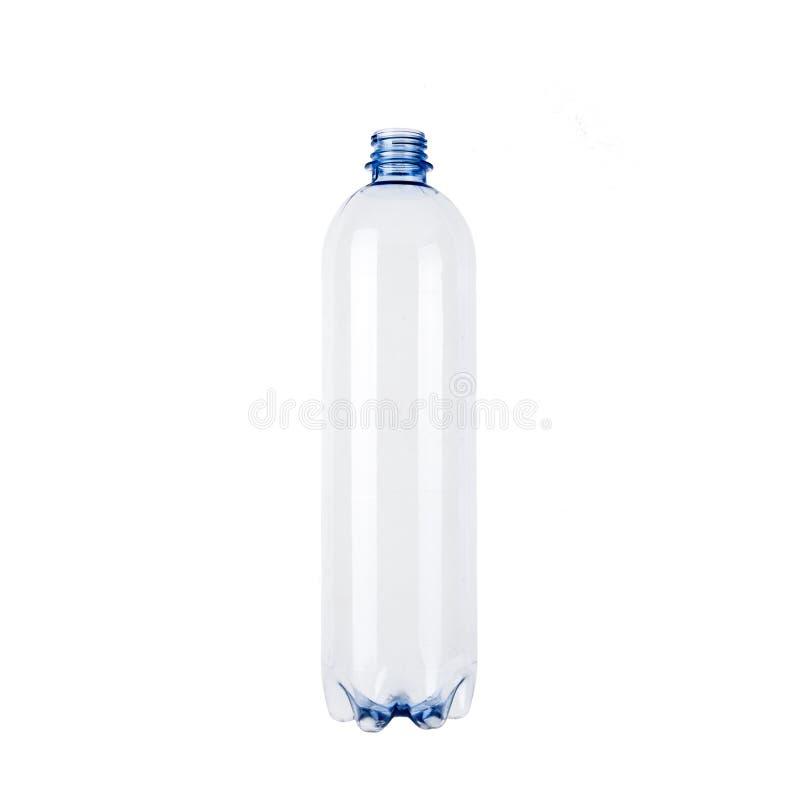 Ongebruikte lege plastic fles royalty-vrije stock afbeeldingen