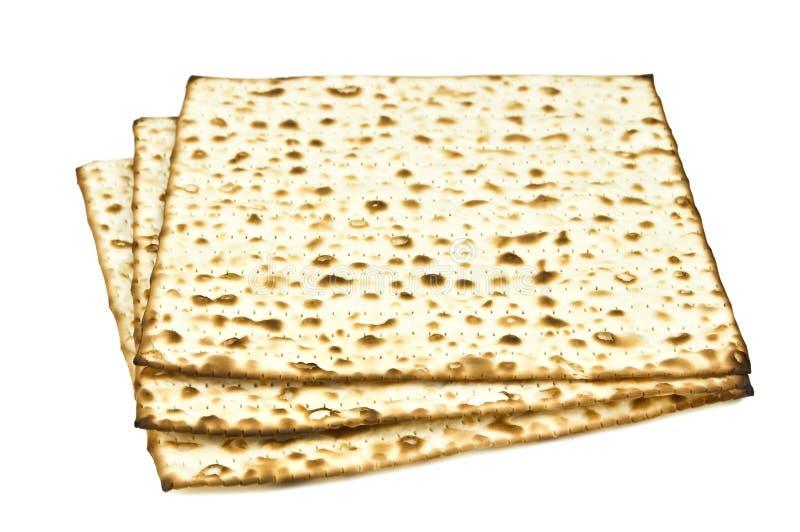 Ongedesemd brood op wit stock afbeelding