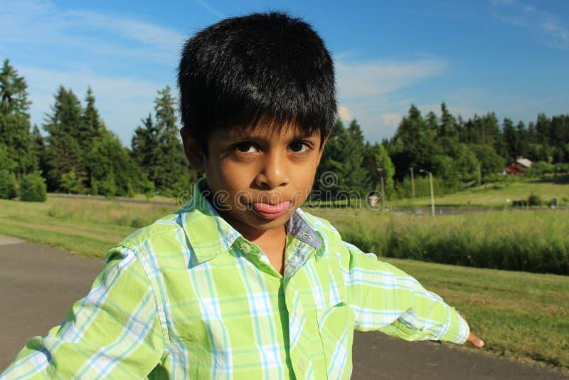 Ongehoorzame jongen royalty-vrije stock foto