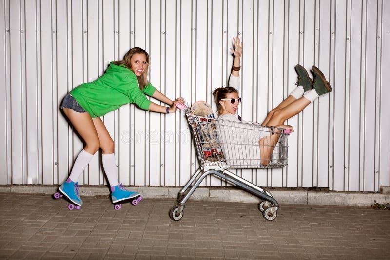 Ongehoorzame meisjes royalty-vrije stock foto's