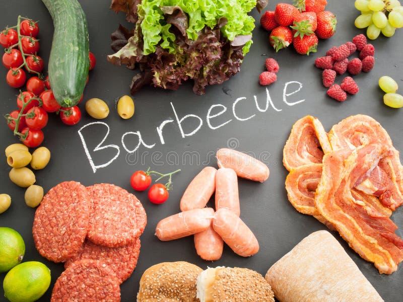 Ongekookte barbecueingrediënten royalty-vrije stock fotografie