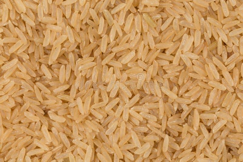 Ongekookte ongepelde rijstachtergrond stock foto