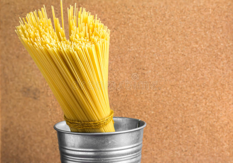 Ongekookte spaghetti royalty-vrije stock foto