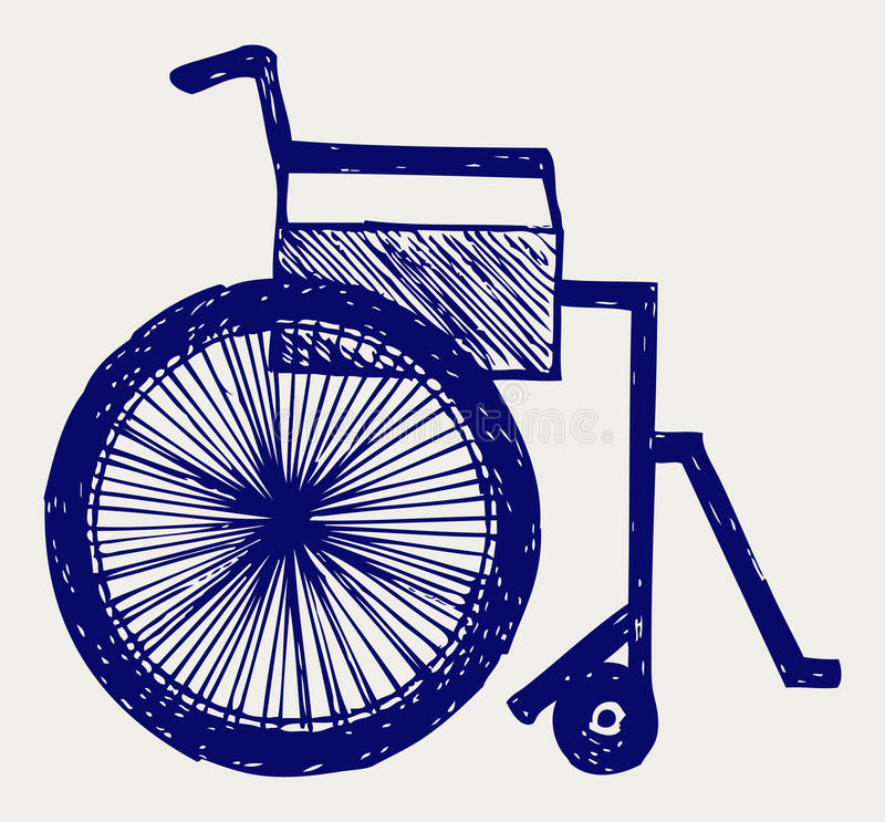 Ongeldige stoel vector illustratie