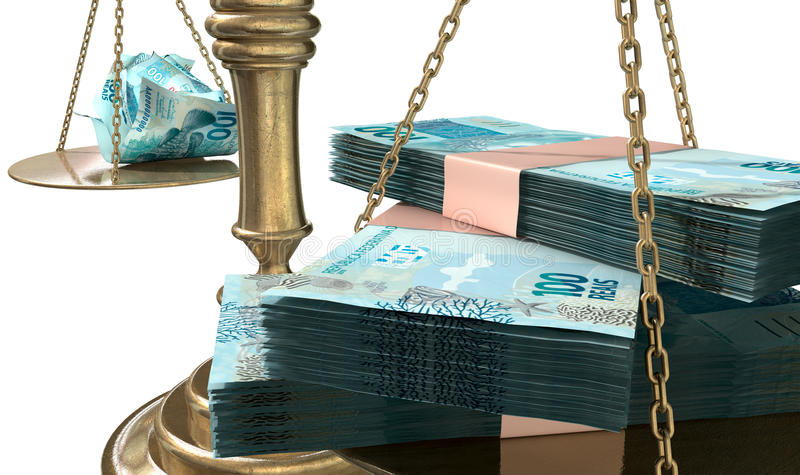 Ongelijkheidsschalen van Rechtvaardigheid Income Gap Brazil royalty-vrije illustratie