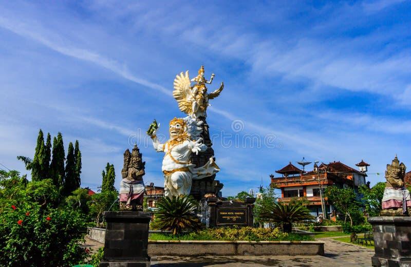 Ongelooflijk Hindoes standbeeld in Ubud, het Eiland van Bali royalty-vrije stock fotografie