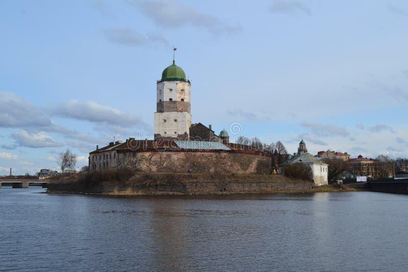 Ongelooflijk kasteel van Viborg royalty-vrije stock foto