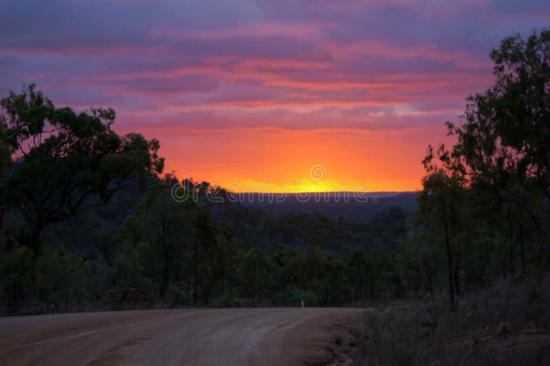 Ongelooflijk mooie zonsondergang royalty-vrije stock afbeeldingen