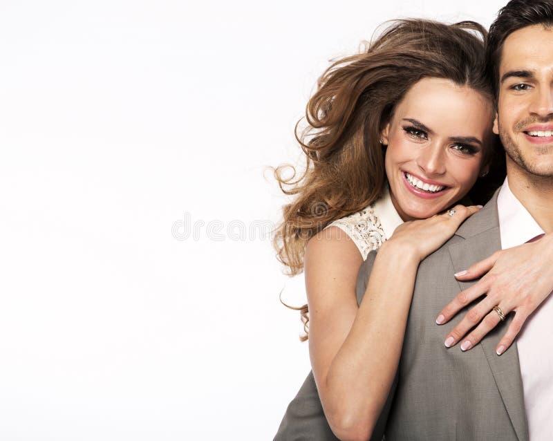 Ongelooflijke glimlach van jonge vrolijke vrouw royalty-vrije stock foto's