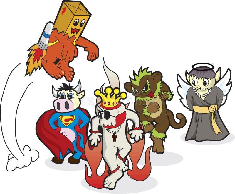 Ongelooflijke Helden royalty-vrije illustratie