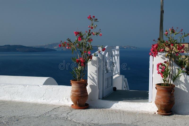 Ongelooflijke santorini royalty-vrije stock afbeelding