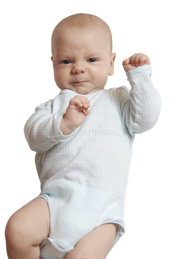 Ongelukkige baby royalty-vrije stock fotografie