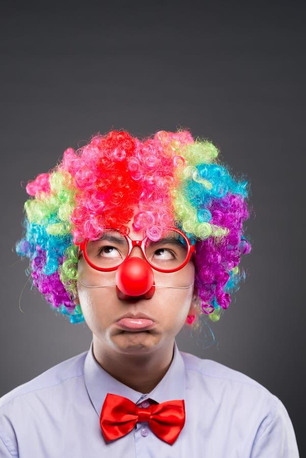 Ongelukkige clown royalty-vrije stock afbeeldingen