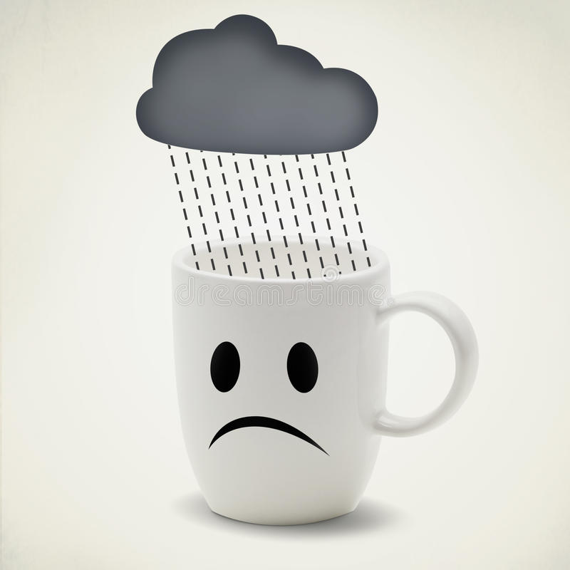 Ongelukkige dag vector illustratie