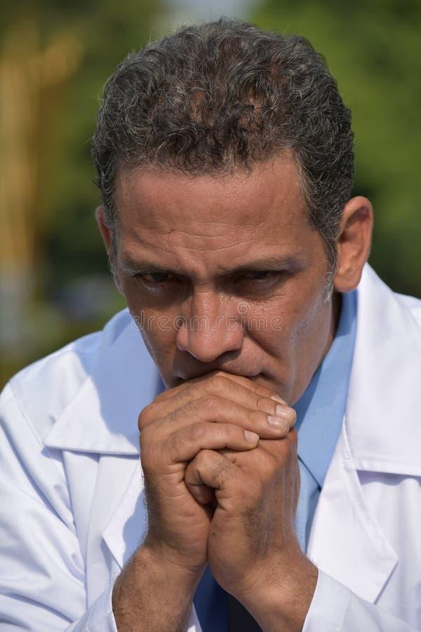 Ongelukkige Mannelijke Dokter stock foto