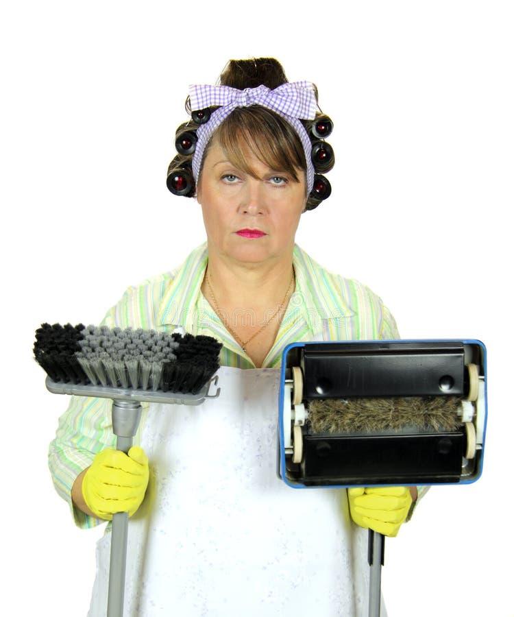 Ongelukkigste Huisvrouw in de Wereld stock foto