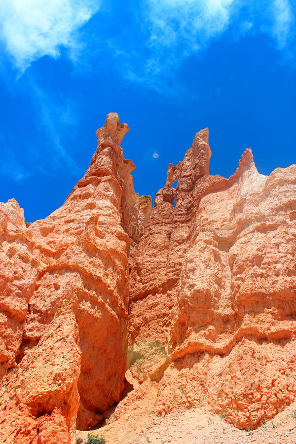 Ongeluksboden in Bryce Canyon National Park Utah stock fotografie