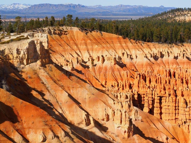 Ongeluksbodevormingen van Bryce Canyon in Utah royalty-vrije stock afbeelding