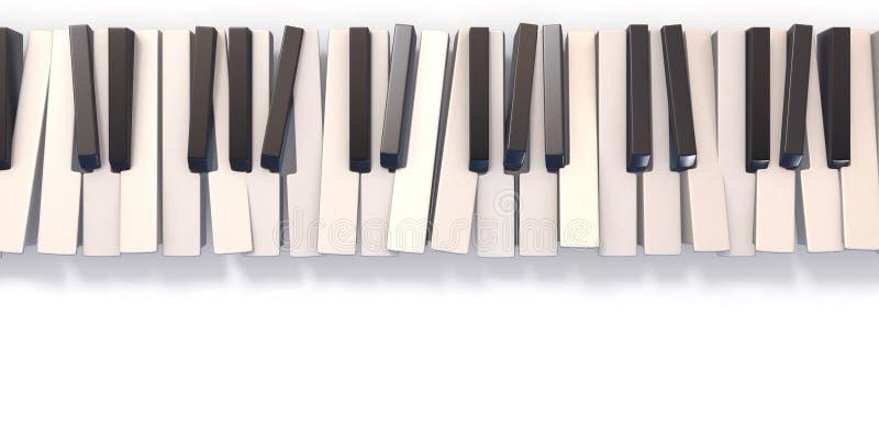 Ongeordend abstract 3D pianotoetsenbord royalty-vrije stock foto's