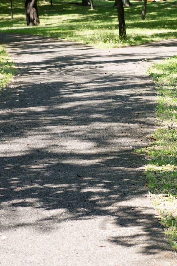 Ongeplaveid kruispunt in een rustig platteland stock foto's