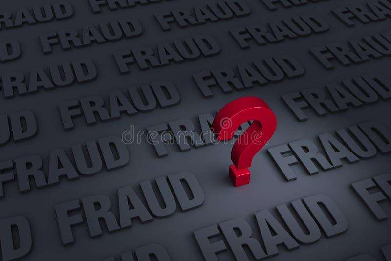Ongerust gemaakt over Doordringende Fraude royalty-vrije illustratie