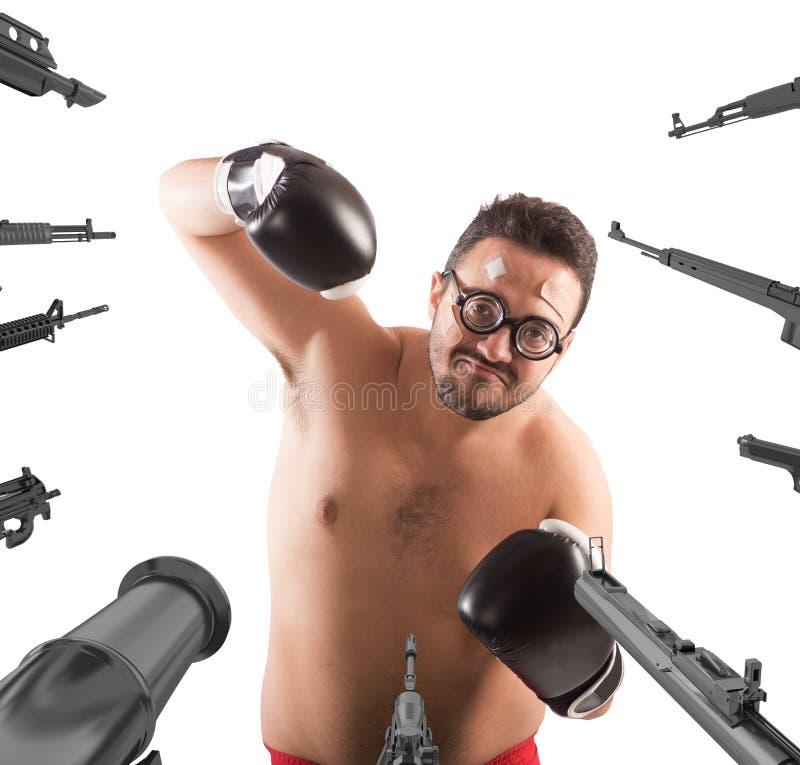 Ongerust gemaakte malle bokser stock foto's